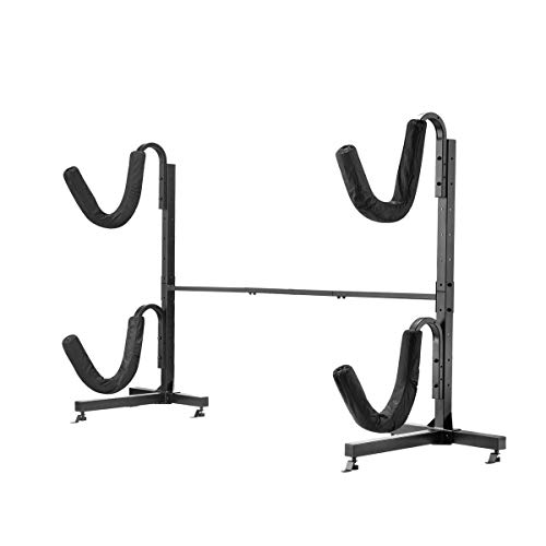 Kayak Storage Rack – Freestanding, 175 Weight Capacity Dual Stand for 2 Kayaks or Paddleboards – Indoor Outdoor Organization by Rad Sportz