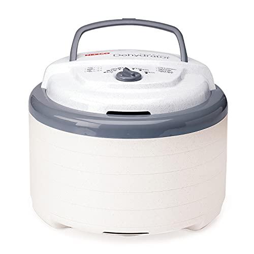 Nesco FD-75A Snackmaster Pro Food Dehydrator, For Snacks, Fruit, Beef Jerky, Gray
