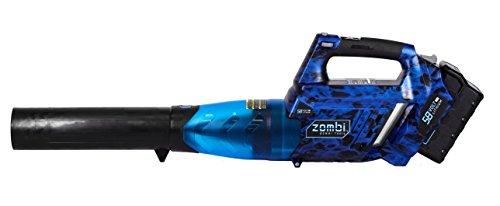 Zombi Power Tools ZLB5817 58-Volt Cordless Blower, Variable Speed 105 MPH Max, Black/Blue