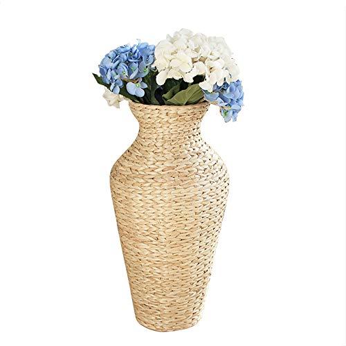 23 Inch Straw Woven Tall Floor Cylinder Vase for Living Room Decor, Large Flower Vases for Pampas Grass Decorative Vase