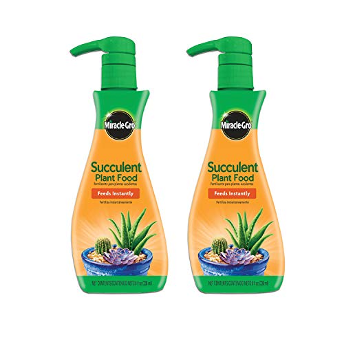 Miracle-Gro Succulent Plant Food, 8 oz., For Succulents including Cacti, Jade, And Aloe, 2 Pack