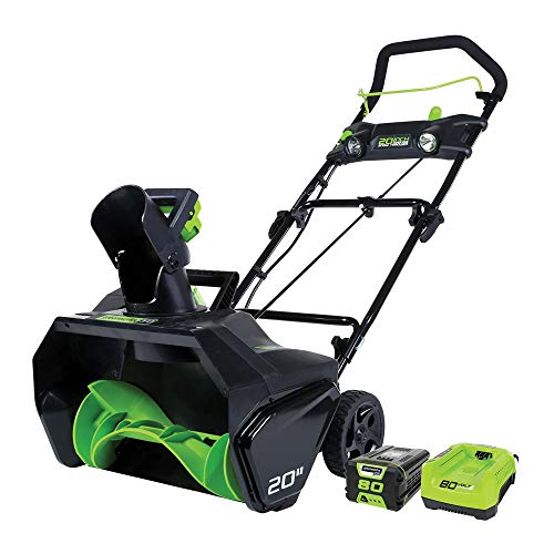 Greenworks Pro 80V 20 inch Snow Thrower with 2Ah Battery and Charger