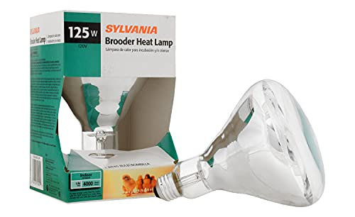 SYLVANIA Brooder Heat Lamp Light Bulb, BR40, 125W (15451)