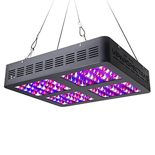 VIPARSPECTRA 600W LED Grow Light,with Daisy Chain,Veg and Bloom Switches, Full Spectrum Plant Growing Lights for Indoor Plants Veg and Flower