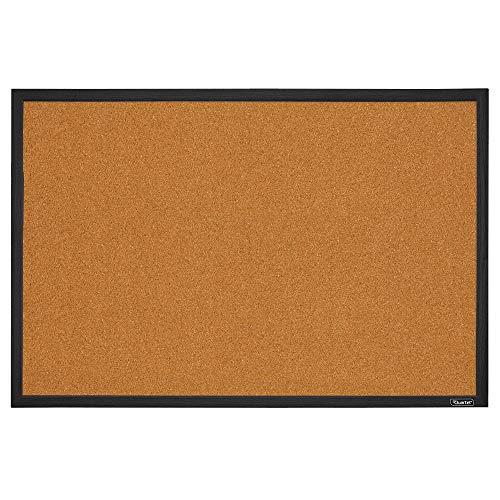Quartet Cork Board Bulletin Board, 2' x 3' Framed Corkboard, Black Frame, Decorative Hanging Pin Board, Perfect for Home Office Decor, Home School Message Board or Vision Board (MWDB2436-BK)