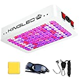 KingLED Newest 1000w LED Grow Lights with Samsung LM301B LEDs and 10x Optical Condenser 3x3 ft Coverage Full Spectrum Grow Lights for Indoor Hydroponic Plants Veg Bloom Greenhouse Growing Lamps