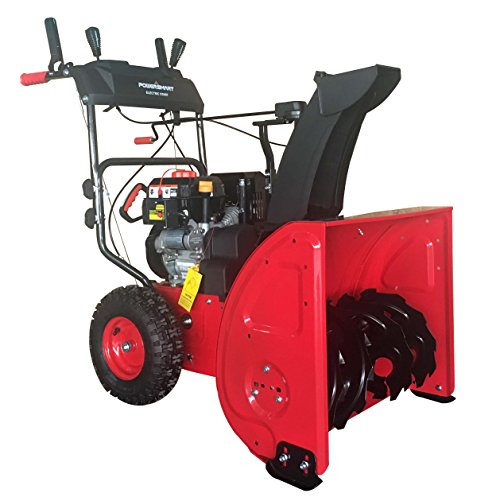 PowerSmart DB72024PA 2-Stage Gas Snow Blower with Power Assist, 24', Black