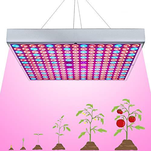 45W LED Grow Light for Indoor Plants Growing Lamp 225 LEDs UV IR Red Blue Full Spectrum Plant Lights Bulb Panel for Hydroponics Greenhouse Seedling Veg and Flower by Venoya